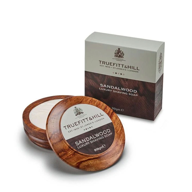 Truefitt & Hill Sandalwood Luxury Shaving Soap Wooden Bowl