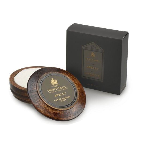 Truefitt & Hill Apsley Luxury Shaving Soap Wooden Bowl