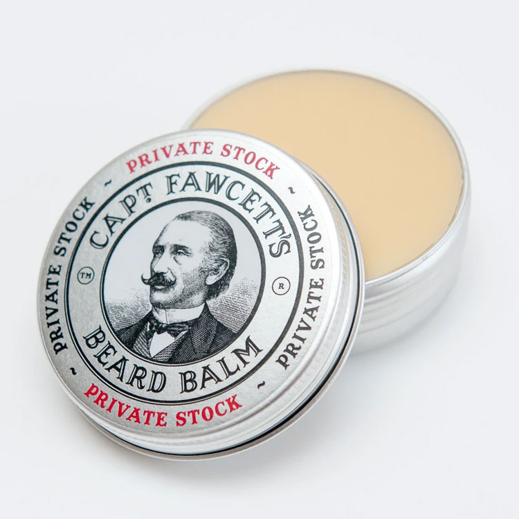 Captain Fawcett Private Stock Beard Balm, Vårdande skäggvax i kaptenens signaturdoft för styling av skägget.