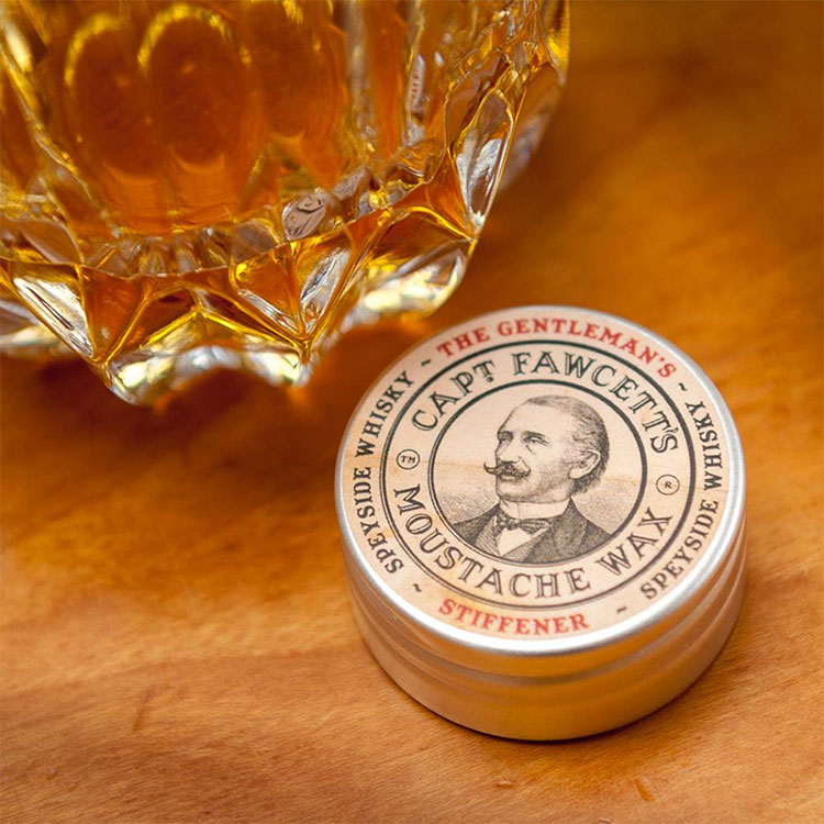 Captain Fawcett Gentleman's Stiffener Malt Whisky Moustache Wax