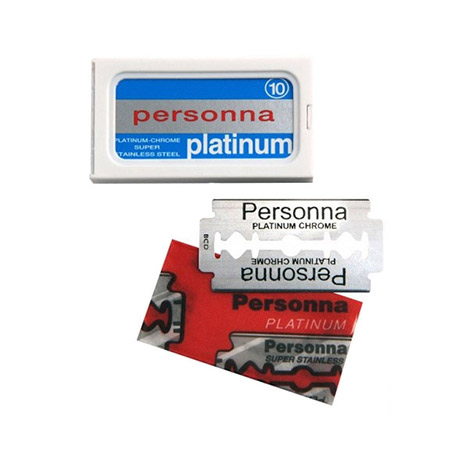 Personna Platinum Chrome Dubbelrakblad 10-pack