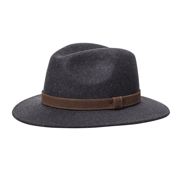 Wigens Bosco Wool Hat Antracite Melange