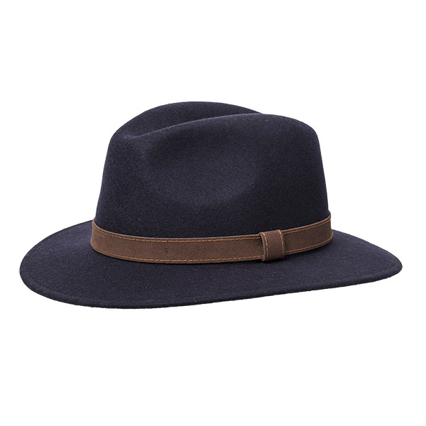 Wigens Bosco Wool Hat Navy