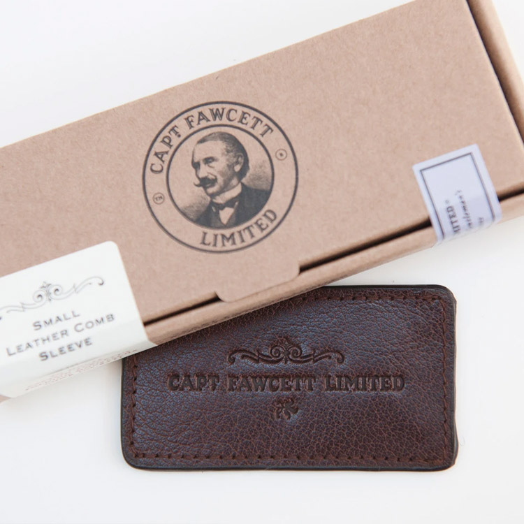 Captain Fawcett Leather Case for Folding Pocket Moustache Comb