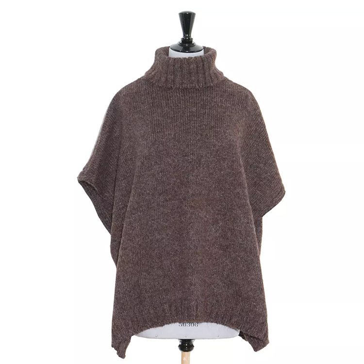 Sätila Beata Poncho Brown Melange