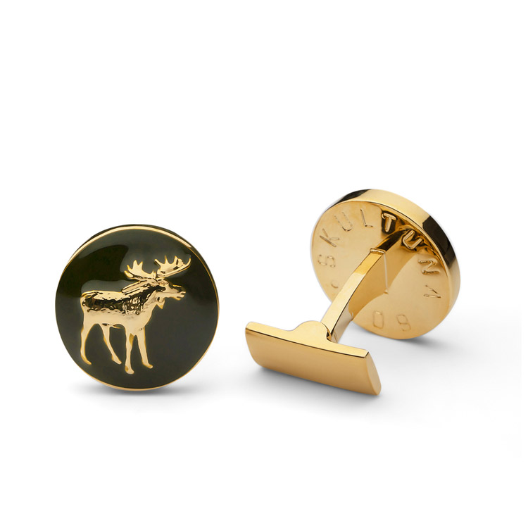 Skultuna The Hunter Gold & Green - The Moose