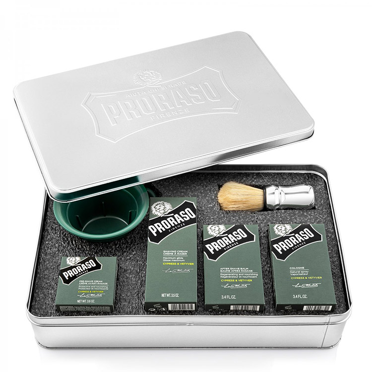 Proraso Shaving Metal Kit Cypress & Vetyver