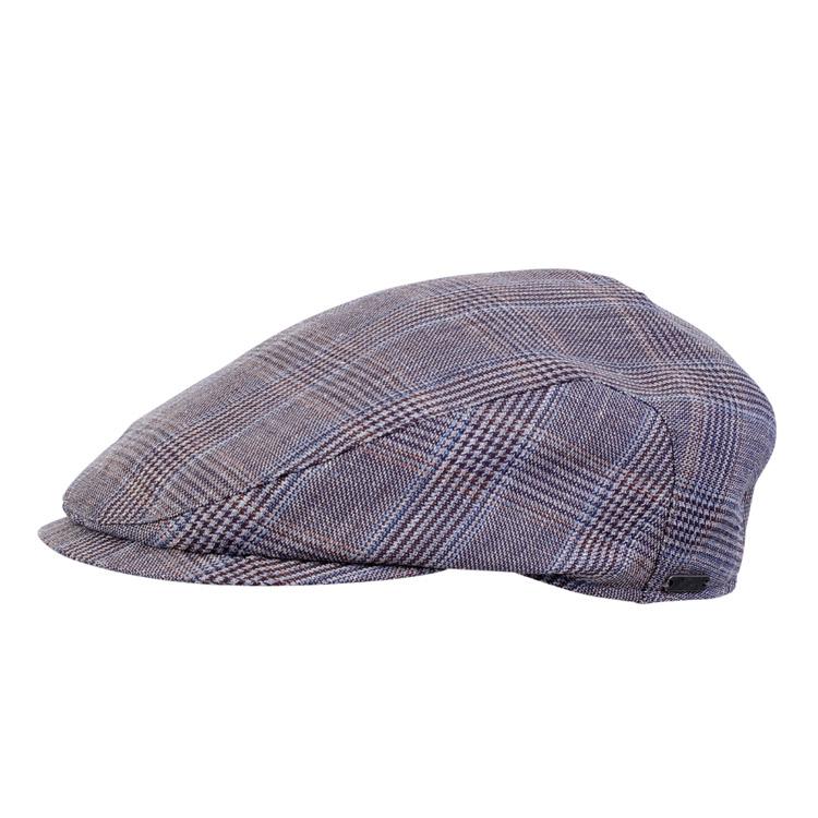 Wigens Ivy Slim Cap Glencheck Blue