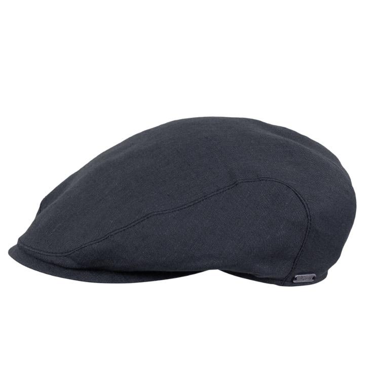 Wigens Ivy Slim Cap Classic Linen Black