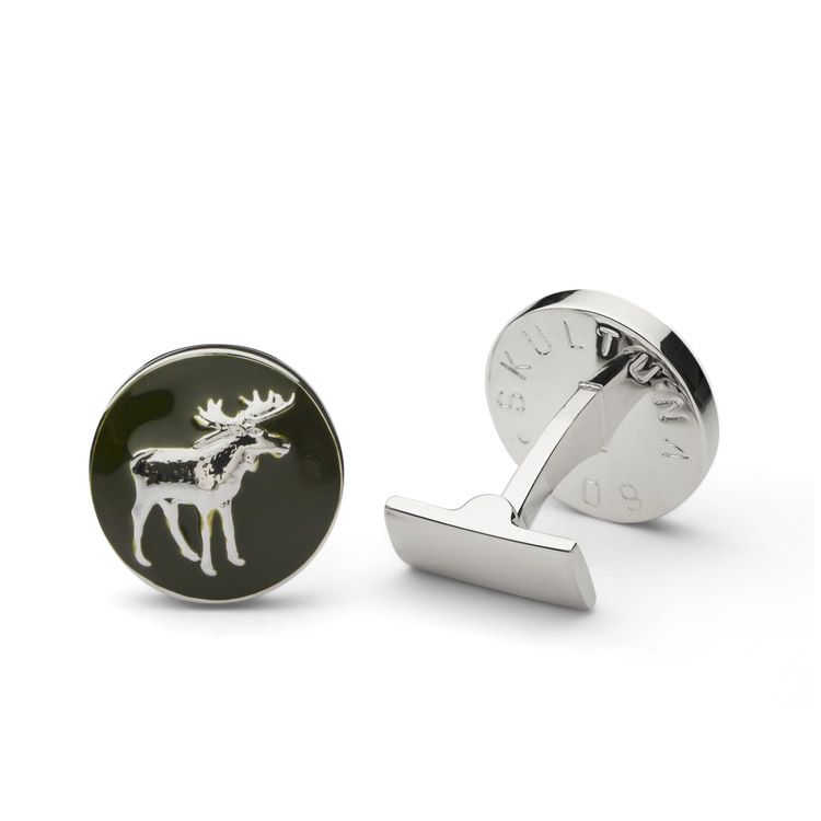 Skultuna The Hunter Silver & Green - The Moose