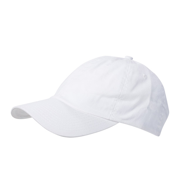 Wigens Baseball Cap Cotton Twill White