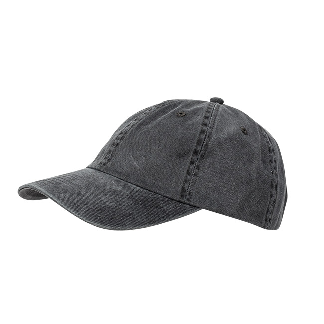 Wigens Baseball Cap Cotton Twill Black