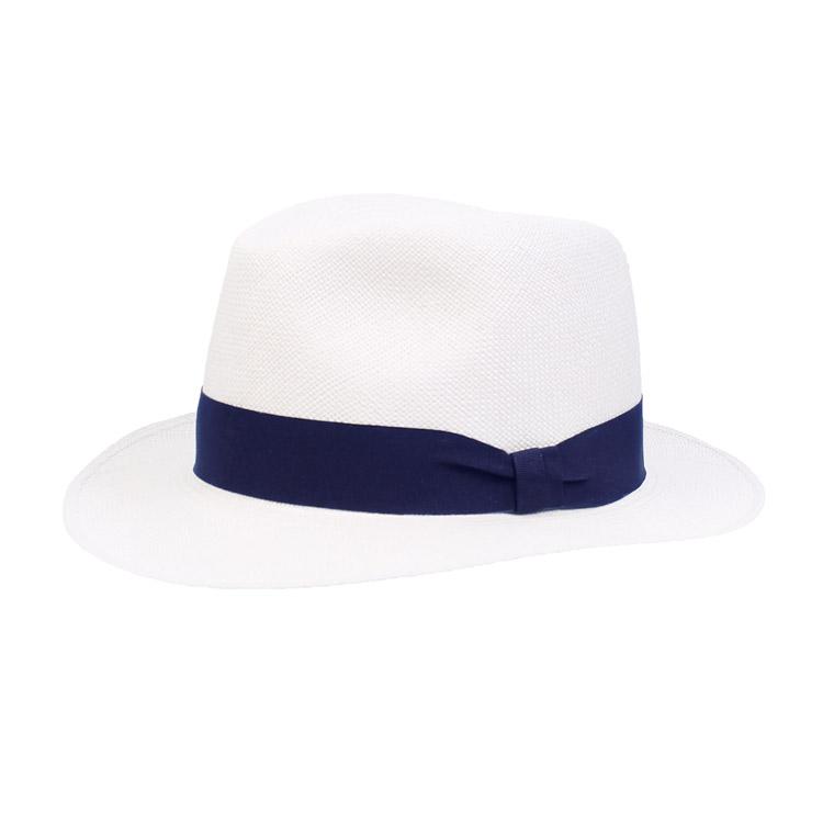 Wigens Fedora Panama Hat Navy