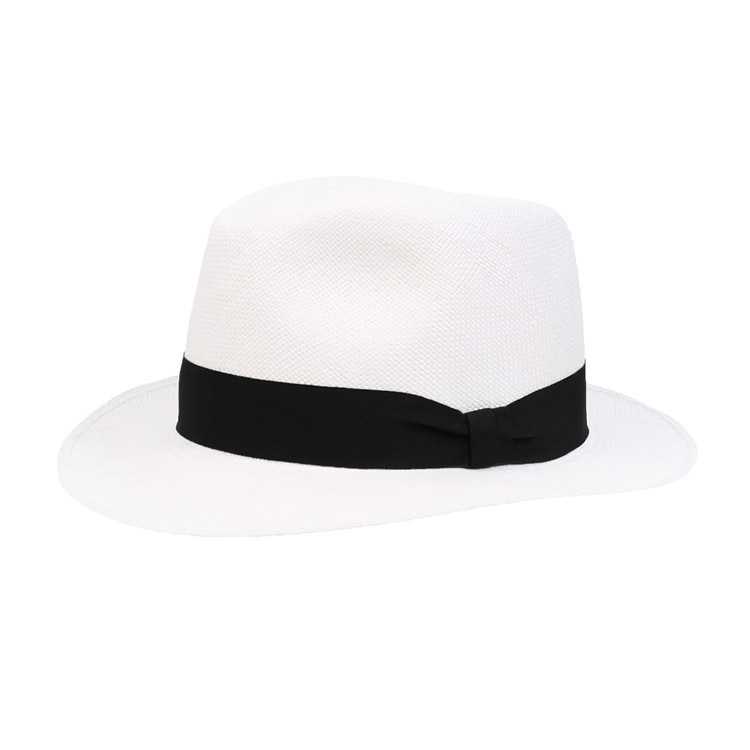 Wigens Fedora Panama Hat Black