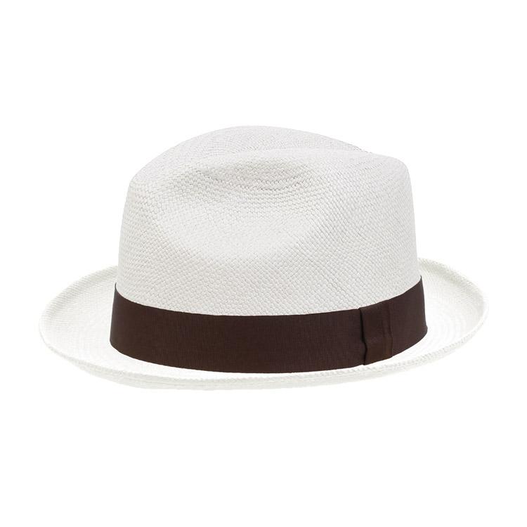 Wigens Fedora Trilby Panama Hat Brown