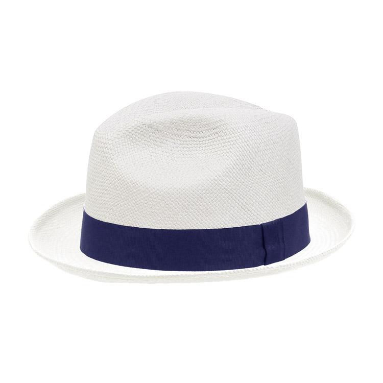 Wigens Fedora Trilby Panama Hat Navy