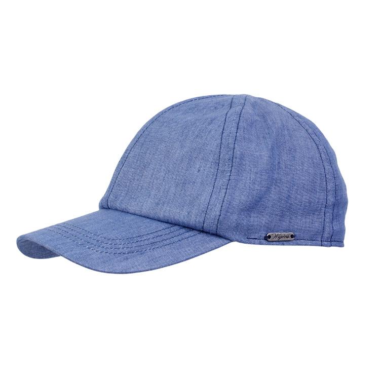 Wigens Baseball Cap Linen Blue