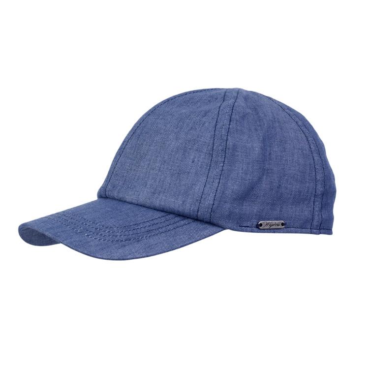 Wigens Baseball Cap Linen Navy
