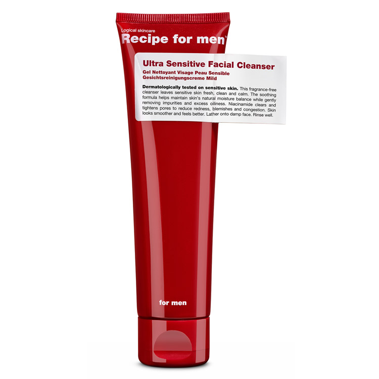 Recipe for men Ultra Sensitive Facial Cleanser