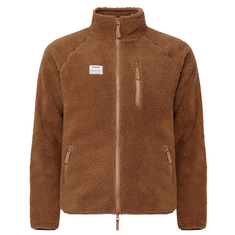 Resteröds Fleece Jacket Zip Camel