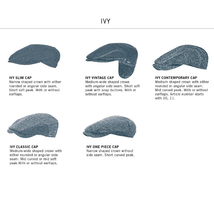 Wigens Ivy Contemporary Cap Linen Light Blue