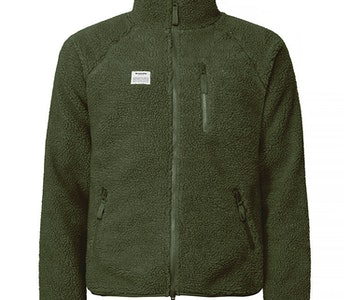 Resteröds Fleece Jacket Zip Army Green