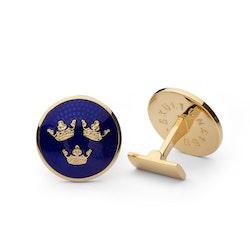 Skultuna Manschettknappar Tre Kronor Large Gold