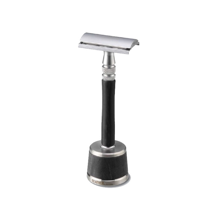 Feather Safety Razor Wood incl stand