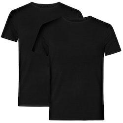 Resteröds T-shirt Bamboo 2-Pack Black