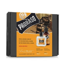 Proraso Gift Set Duo Wood & Spice Beard Balm + Wash
