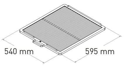 Mibrasa 75 Träkolsugn Bredd: 900cm (Godkänd e. Kiwa 3002)