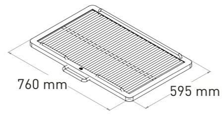 Mibrasa 110 Träkolsugn Bredd 110cm & Djup 110cm (Godkänd e. Kiwa 3002)