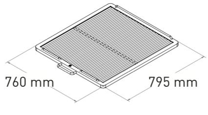 Mibrasa 160 Träkolsugn Bredd: 110cm Djup:110 (Godkänd e. Kiwa 3002)