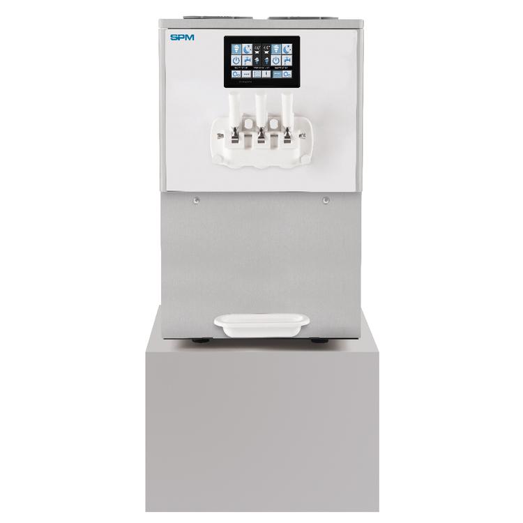 SPM 214 mjukglassmaskin med pump 2+1 smak 600 glass/tim