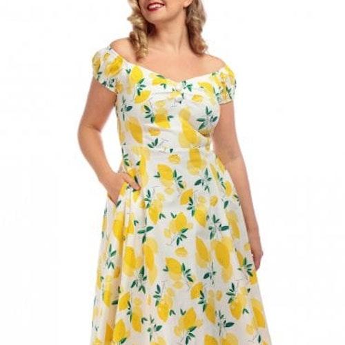 Klänning Collectif Dolores Lemon Doll Dress