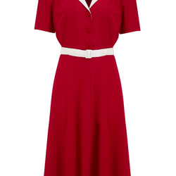 """""""Lola"""" Shirtwaister Dress Röd"""