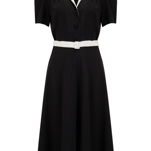"""""""Lola"""" Shirtwaister Dress Svart"""