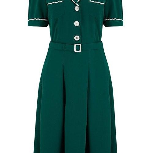 """Kitty"""" Shirtwaister"""" Dress in Green"""