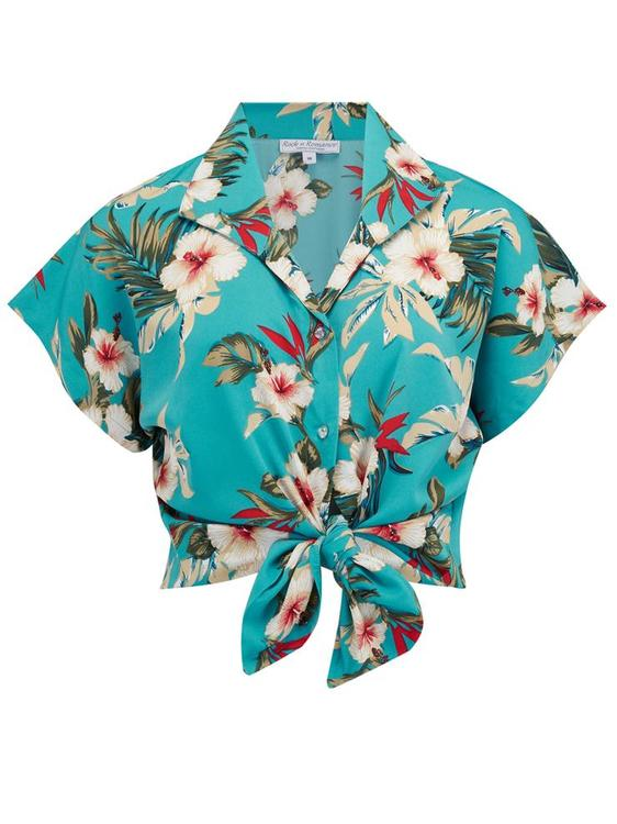 """Maria Blus """"Teal Hawaiian"""""""