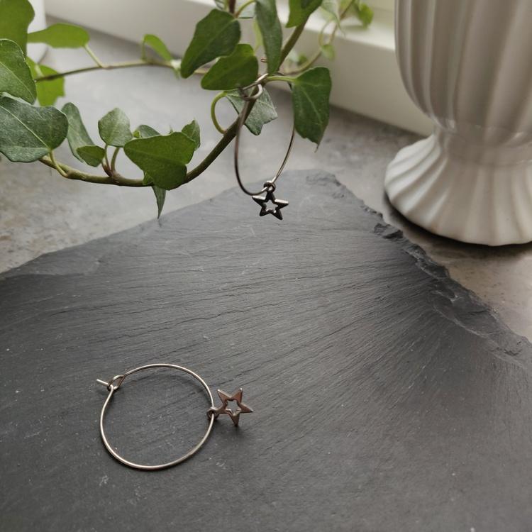 Örhängen - creoler i rostfritt stål