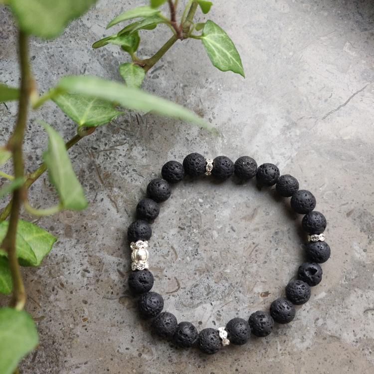 Armband - lava och strass