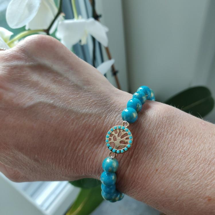 Armband - turkosa stenpärlor