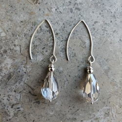 Örhängen - långa örkrokar i rostfritt stål