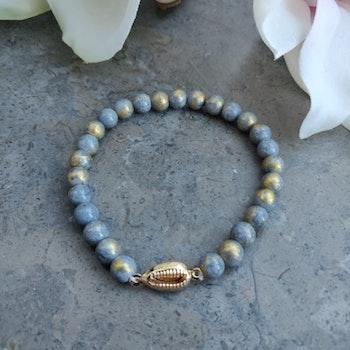 Armband - gråa stenpärlor