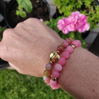Armband - frostade stenpärlor