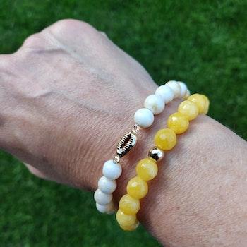 Armband - mångfacetterade stenpärlor