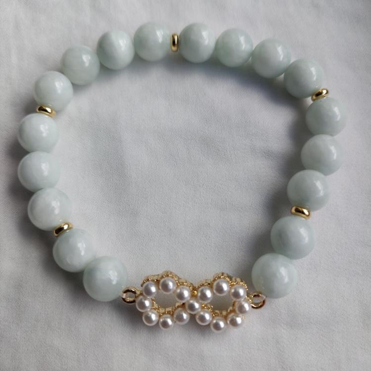 Armband -  opaka stenpärlor