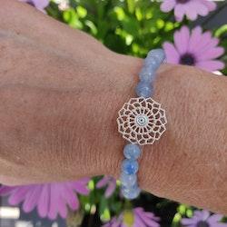 Armband - akvamarin jade