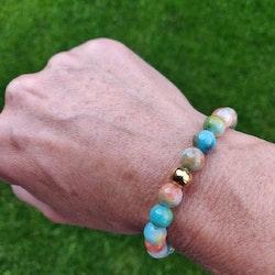 Armband - stenpärlor hösthimmel