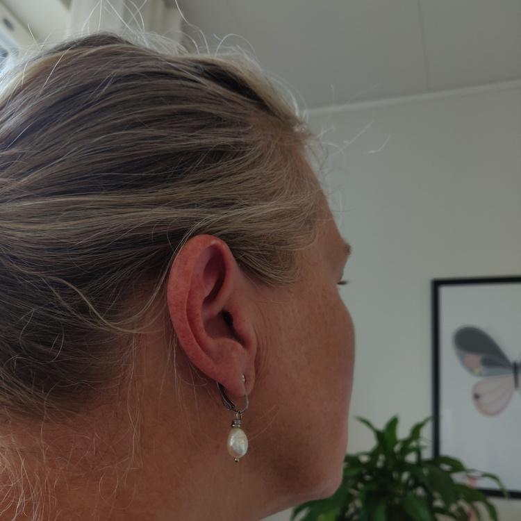 Örhängen - clips i rostfritt stål
